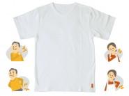 Vネック半袖Tシャツ【スペクトール ファイバー】ホワイトダイヤモンド